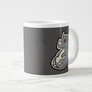 Cute Baby Gray Rhino Big Eyes Ink Drawing Design Giant Coffee Mug