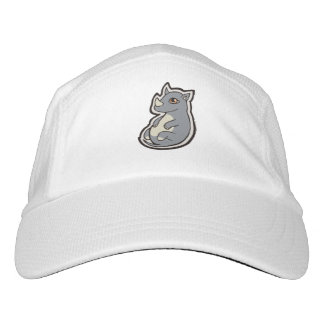 Cute Baby Gray Rhino Big Eyes Ink Drawing Design Headsweats Hat
