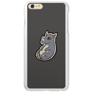 Cute Baby Gray Rhino Big Eyes Ink Drawing Design Incipio Feather® Shine iPhone 6 Plus Case