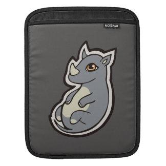Cute Baby Gray Rhino Big Eyes Ink Drawing Design iPad Sleeve