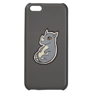 Cute Baby Gray Rhino Big Eyes Ink Drawing Design iPhone 5C Case