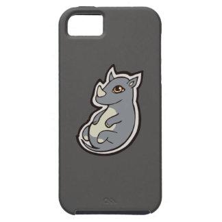 Cute Baby Gray Rhino Big Eyes Ink Drawing Design iPhone SE/5/5s Case