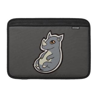 Cute Baby Gray Rhino Big Eyes Ink Drawing Design MacBook Air Sleeve