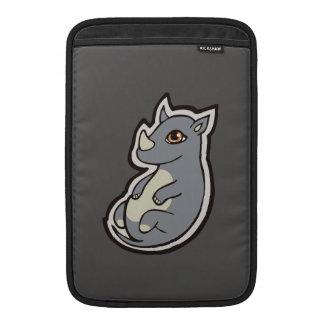 Cute Baby Gray Rhino Big Eyes Ink Drawing Design MacBook Air Sleeves