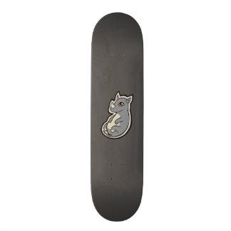 Cute Baby Gray Rhino Big Eyes Ink Drawing Design Skateboard Deck