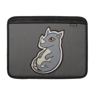 Cute Baby Gray Rhino Big Eyes Ink Drawing Design Sleeve For MacBook Air