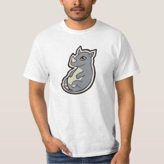 Cute Baby Gray Rhino Big Eyes Ink Drawing Design T Shirt