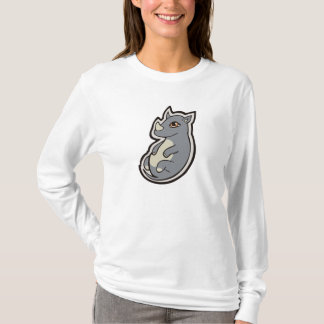 Cute Baby Gray Rhino Big Eyes Ink Drawing Design T-Shirt