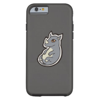 Cute Baby Gray Rhino Big Eyes Ink Drawing Design Tough iPhone 6 Case