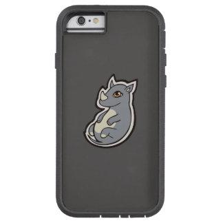 Cute Baby Gray Rhino Big Eyes Ink Drawing Design Tough Xtreme iPhone 6 Case