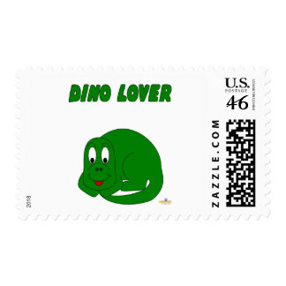 Cute Baby Green Dinosaur Dino Lover Stamps