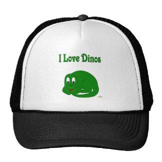 Cute Baby Green Dinosaur I Love Dinos Trucker Hat