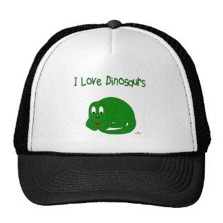 Cute Baby Green Dinosaur I Love Dinosaurs Trucker Hat