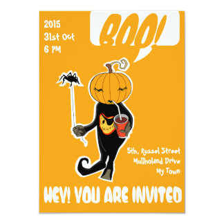 Cute Baby Halloween Costume Party Invitation