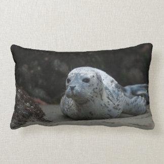 Cute Baby Harbor Seal at Oregon Islands NWR Lumbar Pillow
