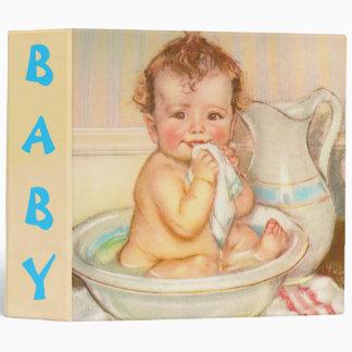 Cute Baby Having a Bath 3 Ring Binder