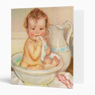 Cute Baby Having a Bath Binder