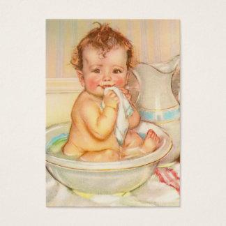 Cute Baby Having a Bath Business Card