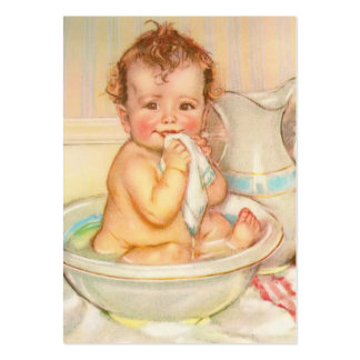 Cute Baby Having a Bath Business Card Template