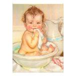 Cute Baby Having a Bath Personalized Invitation