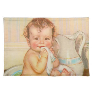 Cute Baby Having a Bath Placemat