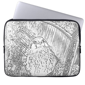 Cute Baby Hawk Print Laptop Sleeve