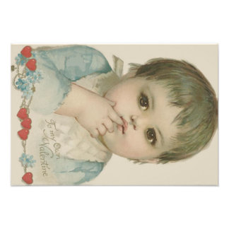 Cute Baby Heart Forget-Me-Not Photo Print