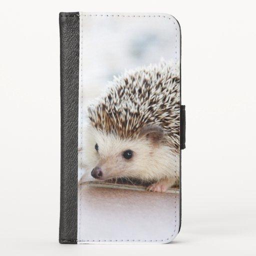 Cute Baby Hedgehog iPhone Wallet Case