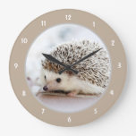 Cute Baby Hedgehog Large Clock