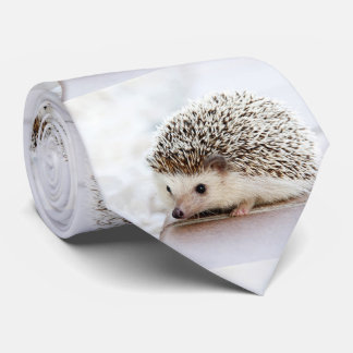Cute Baby Hedgehog Photo Template Neck Tie