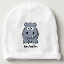 Cute Baby Hippo Customize Baby Beanie