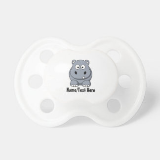 Cute Baby Hippo Customize Pacifier
