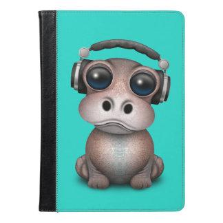 Cute Baby Hippo Dj Wearing Headphones iPad Air Case