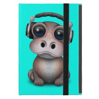 Cute Baby Hippo Dj Wearing Headphones iPad Mini Case