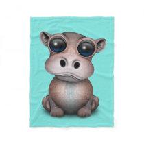 Cute Baby Hippo Fleece Blanket