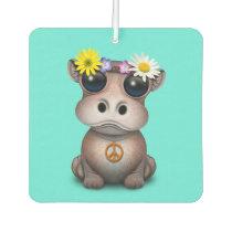 Cute Baby Hippo Hippie Car Air Freshener