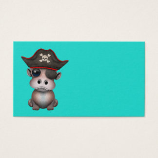 Cute Baby Hippo Pirate Business Card
