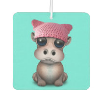 Cute Baby Hippo Wearing Pussy Hat Air Freshener