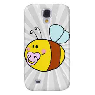 cute baby honey bee with pacifier cartoon galaxy s4 cases