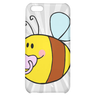 cute baby honey bee with pacifier cartoon case for iPhone 5C