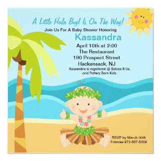 14 Luau Baby Shower 525x525 Invitation Cards Zazzle