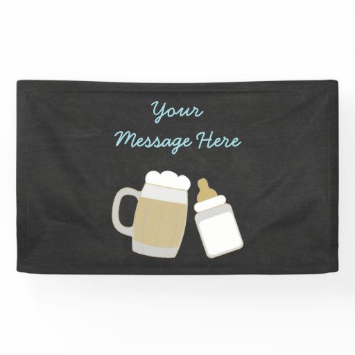 Cute Baby Is Brewing Banner Blue