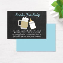 Cute Baby Is Brewing Book Request Cards Blue