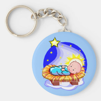 Cute Baby Jesus And Star Keychain