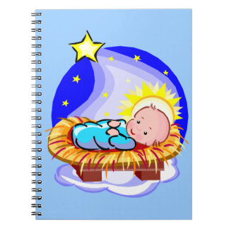 Cute Baby Jesus And Star Notebook