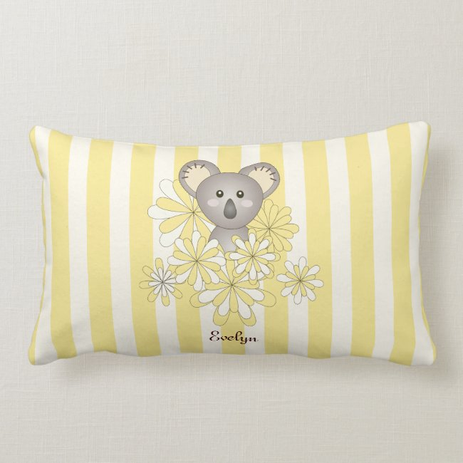 Cute Baby Koala Animal Cartoon Yellow Striped
