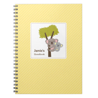 Cute Baby Koala Bear and Mommy Baby Shower Notebook