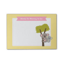 Cute Baby Koala Bear and Mommy Baby Shower Post-it Notes