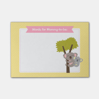 Cute Baby Koala Bear and Mommy Baby Shower Post-it® Notes