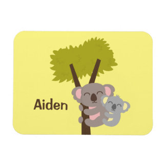 Cute Baby Koala Bear and Mommy For Kids Rectangular Photo Magnet